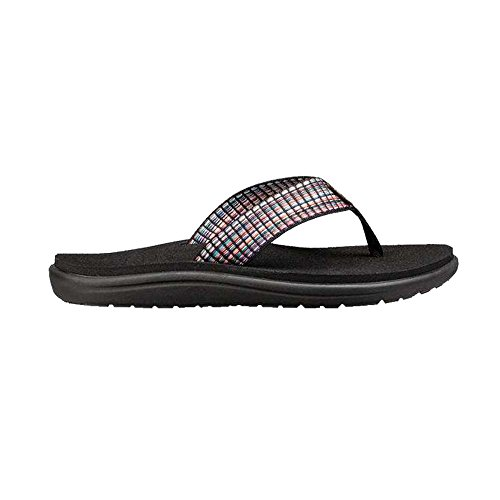 Teva Women's W Voya Flip-Flop, Bar Street Multi/Black, 8 M US