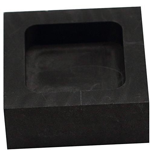 musykrafties Cuadrado Joyería Vaciado Grafito Molde De Lingote Crisol para fundir De refinación Chatarra Precioso Metal Vidrio - #1445 100x100x25mm: ...