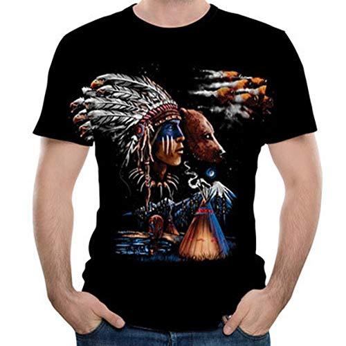 Les T Indien Mode Manches Pour Autour Shirt Courtes Xl Cou Fen amp;g 3d vxF8q6w65