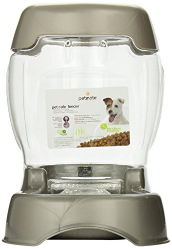 Petmate Pet Café Feeder, 3 pound capacity, Pearl Tan (Capacity Pet Food)