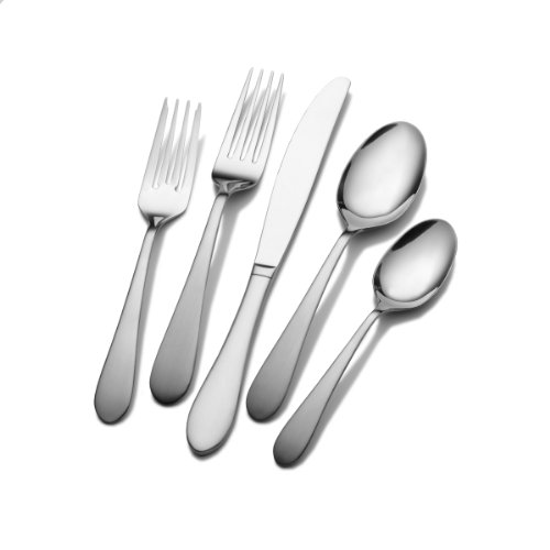 Pfaltzgraff 5048044 Salisbury Satin 20-Piece Flatware Set, Service for 4 (Set Piece Pfaltzgraff 20 Flatware)