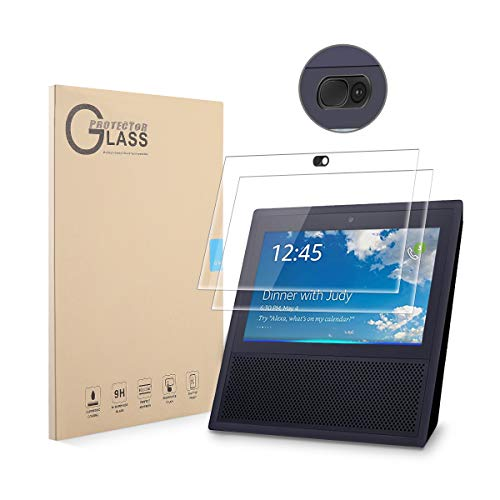 LANMU Echo Show Screen Protector Webcam Cover,High Definition Screen Protector for Echo Show with Webcam Cover Protecting Everyone's Privacy,Echo Show Accessories-2 Screen Protector and 1 Webcam Cover