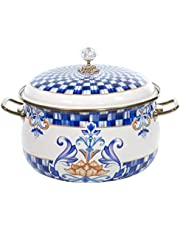 Parent Listing for White Stockpot with Blue Floral Pattern Size Variation