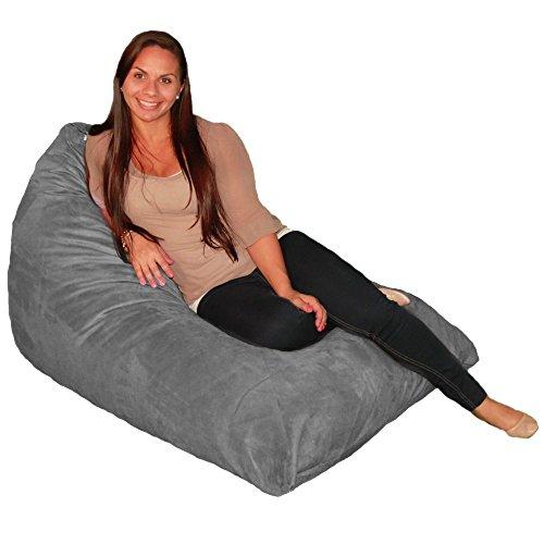 Bean Bag Chair Premium Cozy Foam Filled Cozy Lounger medium Grey