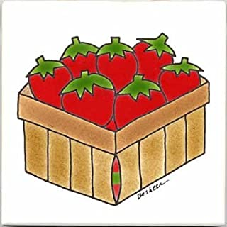 product image for FRUITS-VEGETBLES-TRIVETS-WALL PLAQUES-STRAWBERRIES TILE