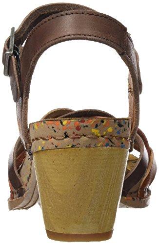 ART Company 1110, Sandalias con Tacón Mujer Multicolor (Multi Brown)