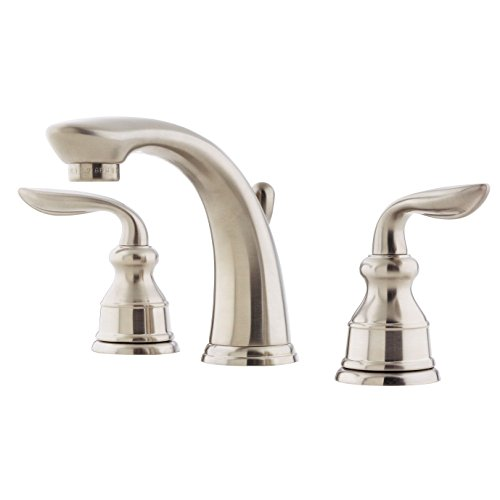Pfister LF049CB0K Avalon 2-Handle 8 Inch Widespread Bathroom Faucet in Brushed Nickel, Water-Efficient Model (Avalon Tub Faucet Roman)