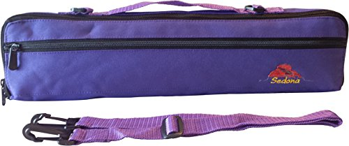Sedona B-ft Flute Canvas Bag/Case Cover w/Handle, Shoulder Strap & Fleece Lining--Purple