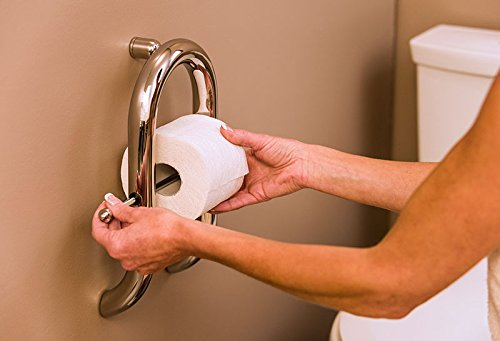 Invisia Wall Toilet Roll Holder-Brushed Stainless Steel Finish by Invisia (Image #2)