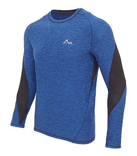 Turaag Long Sleeve T-Shirt for Men Quick Dry Compression Two Way Air Circulation & Cool Moisture Wicking Fabric T-Shirt for Running Training & Gym (Sleeve T-shirt Action Long)