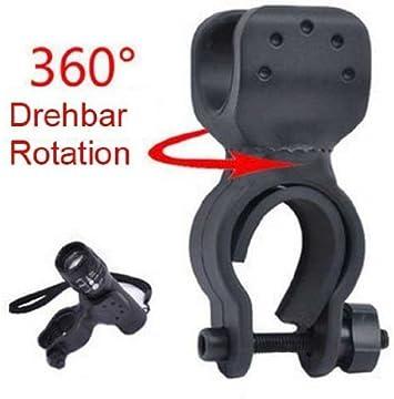 Weeton - Soporte de linterna para bicicleta (rotación de 360º ...
