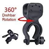 Mount Holder Bicycle Bike Flashlight LED Torch Mount Holder 360° rotation Cycling Clip Clamp
