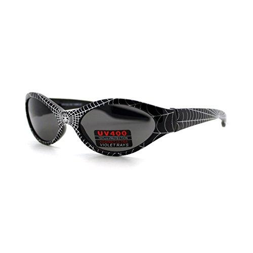 Kid's Spiderman Sunglasses Spidey Spider Web Oval Frame Boys 3+ - Sunglasses Spider