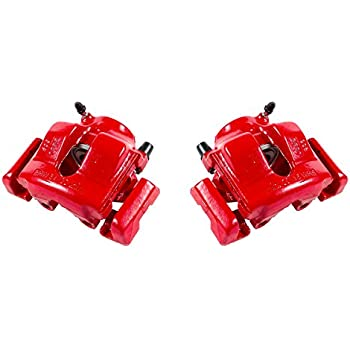 Front Red Brake Calipers and Rotors /& Ceramic Pads For BMW 323i E46 Z4 2.5i