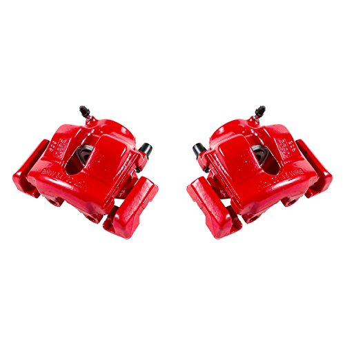 CK01001 [ 2 ] FRONT Performance [ E36 E46 ] Red Powder Coated Semi-Loaded Caliper Assembly Set (Bmw Performance Brakes)
