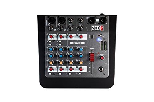 Allen & Heath ZED6 Compact 6 Input Analaog Mixer