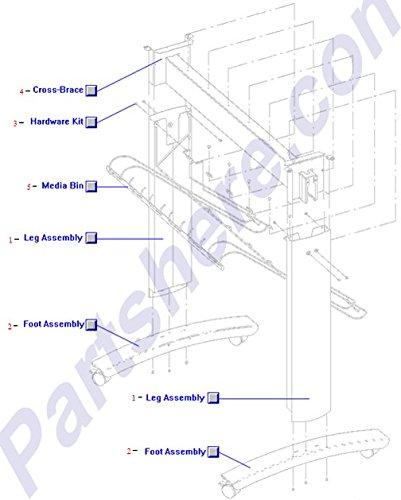 HP C3192-60001 HP DesignJet 750c Plus (D-size) Wire Cross Brace for Media - Bin Media Hp