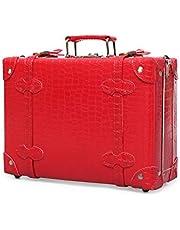 urecity Mini maleta de cuero sin ruedas con correa para el hombro