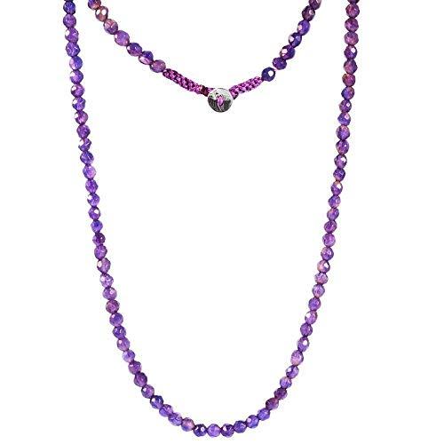 Sivalya STABILITY Amethyst Gemstone Beads Necklace | Wrap - Amethyst Wrap Necklace