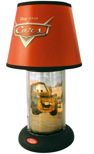 Amazon disney pixar cars lightning mcqueen revolving table disney pixar cars lightning mcqueen revolving table lamp mozeypictures Image collections