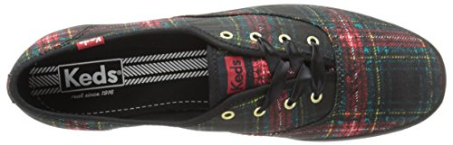 Keds Womens Champion Distressed Plaid Plaid Black 764PIle