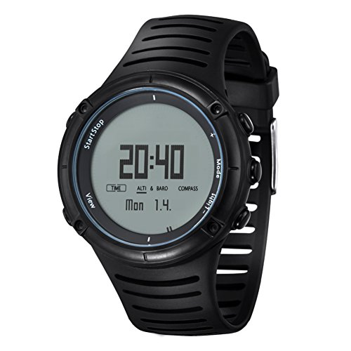 Men's climb Outdoor Digital Watch,Multi-function Compass Pressure Altitude Led 50 m waterproof Fashion Cool Wristwatch-A by JDSHDKHDKFJDFKL