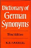 Dictionary of German Synonyms, R. B. Farrell, 0521211891