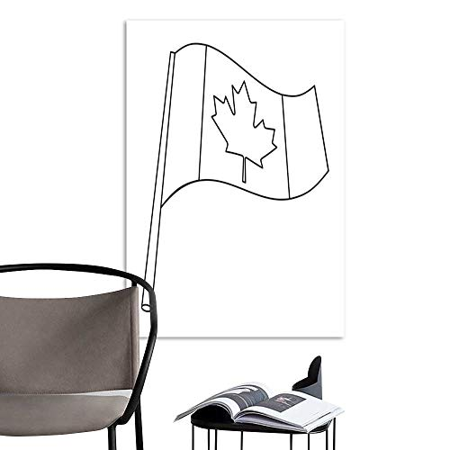 Modern Canvas PaintingCanadian flag icon in outline style isolated on white background Canadian Thanksgiving Day symbol stock vector illustration .jpg Home Decoration Home Office Wall Print On 32