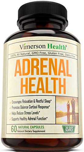 Adrenal Support Supplement. Cortisol Management Formula. Fatigue, Anxiety and Stress Relief with Magnesium, Valerian, Vitamin C, Choline, L-Tyrosine, Hawthorn and Other Natural Adaptogenic Herbs.