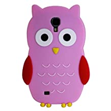 Exian S4028-Pink Samsung Galaxy S4 Silicon Pink Owl Case-Retail Packaging