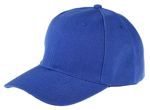 Womens Men Sport Baseball Visor Cap Plain Blank Golf Ball Hat(blue) - 5