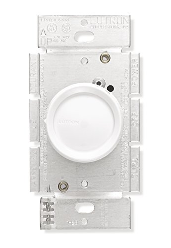 Lutron Rotary Dimmer Switch for Incandescent and Halogen Bulbs, Single-Pole, White