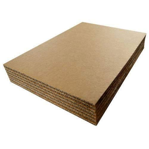 "Corrugated Cardboard Filler Insert Sheet Pads 1/8"" Thick - 12 x 12 Inches for Packing, mailing, and Crafts - 25 Pack"