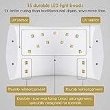 24W UV Lamp Nail Dryer, LED UV Light Nail Gel Dryer Curing Lamp with Sensor for Gel Based Polish Manicure Pedicure, Gel Dryer With UV Light