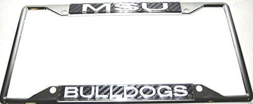 Mississippi State Bulldogs MSU Carbon Chrome License Plate Frame - Mississippi State Msu Bulldogs