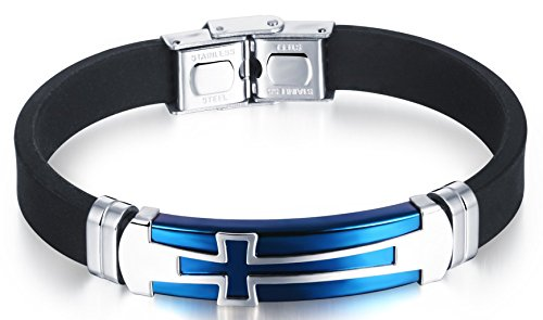 Hamoery Fashion Stainless Leather Bracelet