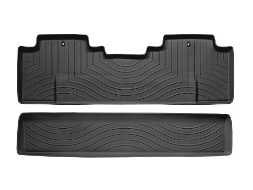 WeatherTech Custom Fit Rear FloorLiner for Honda Ridgeline (Black)