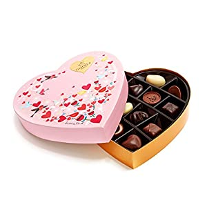 Godiva Chocolatier Valentine's Day Heart Assorted Chocolates and Truffles 14 Piece Gift Box
