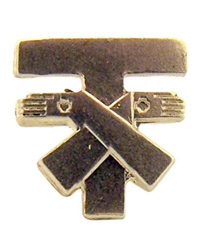 - Sterling Silver Franciscan Tau Cross Medal Lapel Pin, 1/2 Inch