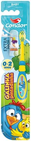 Escova Dental Infantil Galinha Pintadinha 0 a 2 Anos, Condor, Multicor