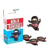 novelty BLACK NINJA shaped BANDAGES for Kids or grown ups