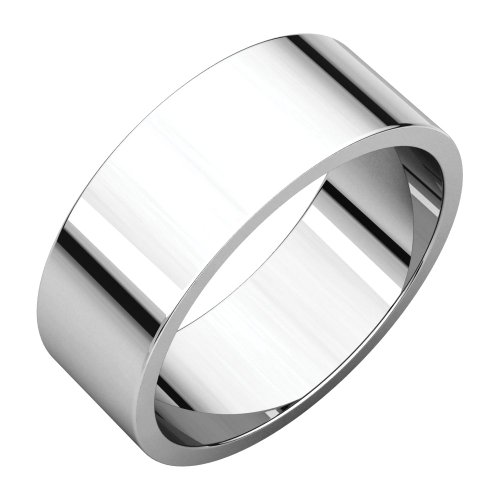 - Wedding Bands, Palladium 7mm Flat Band