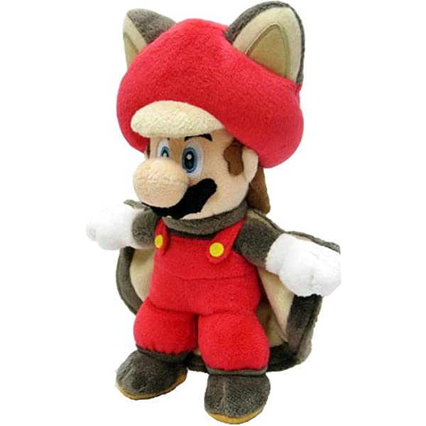 TOGETHER Super Mario Fly Squirrel Toad Blue Plush 20 cm