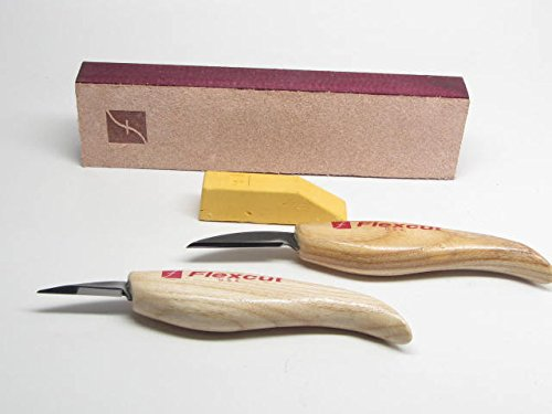 Flexcut Roughing Detail Knives Strop Gold Compound Knife Sharpening ()