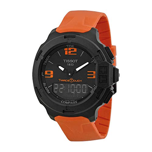 Tissot Men's T0814209705702 T-Race Touch Analog-Digital Black Watch with Orange Band (Watches For Men Touch)