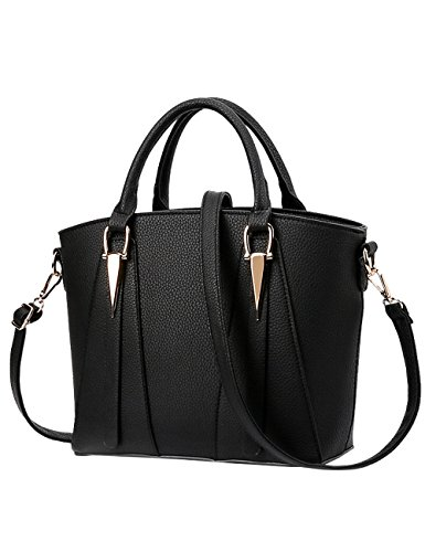 Handle 26cm Women's Bags Cross Shoulder Bags body Black Bag Hand PU Bag BA4xnqYw6A