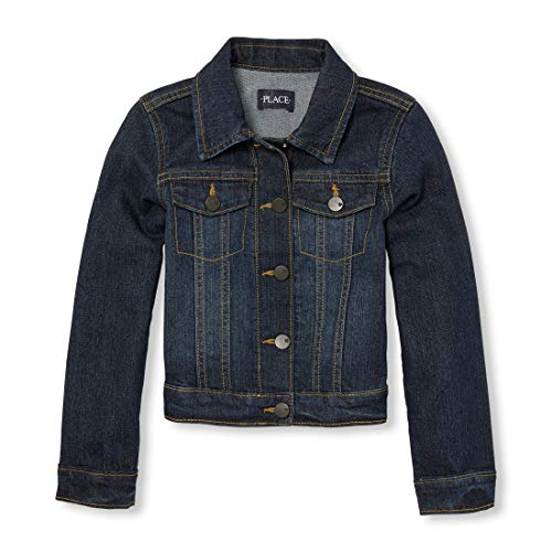 The Children's Place Little Girls' Basic Denim Jacket, Odyssey, Small