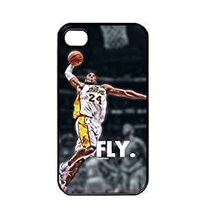 NBA Los Angeles Lakers Kobe Bryant Apple iPhone 4 / 4s TPU Soft Black or White case (Black)