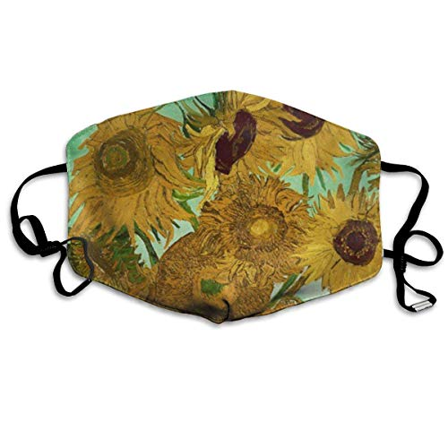 SOADV Mouth Masks Vincent Van Gogh Sunflowers, 1888 Anti Dust Face Mouth Cover Mask Respirator Cotton Protective Breath Healthy Safety Warm Windproof Mask