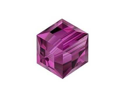 b21cc9f99 Amazon.com: 4pcs Authentic 8mm Swarovski Crystals 5601 Cube Crystal Beads  for Jewelry Craft Making (Fuchsia) SWA-C822: Everything Else